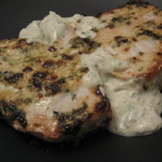 Grilled Halibut With Cilantro Cream