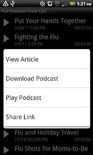 Flu News - screenshot