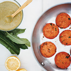 Salmon Cakes with Sorrel Sauce
