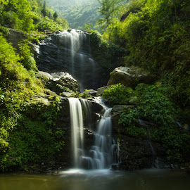 Water Falls by Gurung Purna - Landscapes Waterscapes ( water, waterfalls, nature, greenery, landscape )