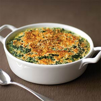 Creamed Spinach Gratin