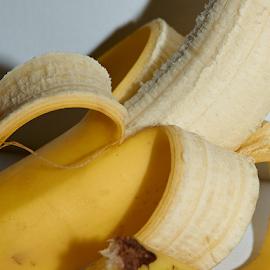 Peeled Banana by Lizzy Foxx - Food & Drink Fruits & Vegetables ( banana, fruit, diet, food, peeled, yellow, peel )