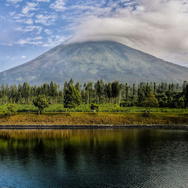 Sumbing mountain by Anis Abdillah - Instagram & Mobile Other ( reflection, great, mountain, indonesia, landscape )
