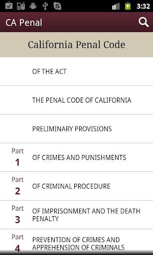California Penal Code - CA Law