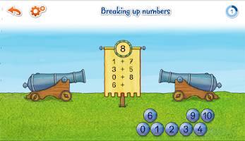 Screenshot of Connie math EduGame 1st grade