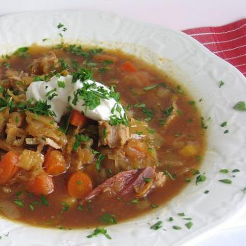 Polish Cabbage and Sauerkraut Soup Recipe - Kapusniak