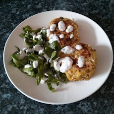 Curried Fishcakes with Mint Yogurt