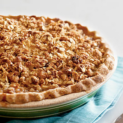 Gingery Cranberry-Pear Pie with Oatmeal Streusel