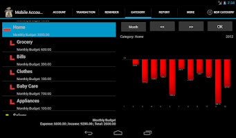 Screenshot of Mobile Account Book HD Lite