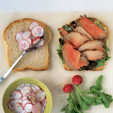 Beef and Radish Salad Sandwich