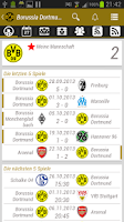 Screenshot of Borussia Dortmund BVB App