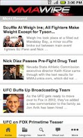 Screenshot of MMA Wire