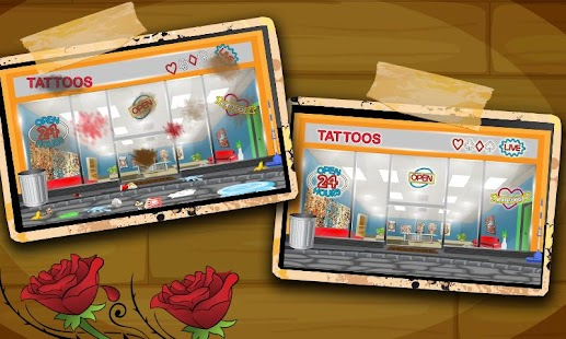 Tattoo shop clean up wash free games online online for Tattoo shop games