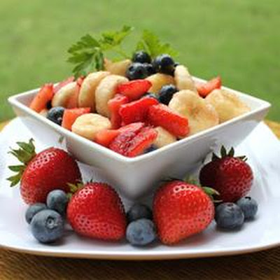 Red, White, and Blueberry Fruit Salad
