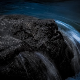 Blue motion by Andrew J Knepper - Nature Up Close Water ( contrast, selective color, waterscape, blue, movement )