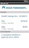 Screenshot of KP HRA/HSA/FSA Balance Tracker