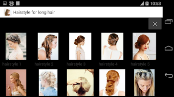 Screenshot of HairStyle for long hair