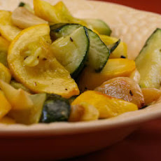 Roasted Squash with Garlic
