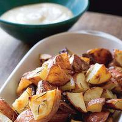 Roasted Rosemary Potatoes with Lemon Mayo