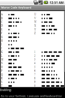 Screenshot of Morse Code Keyboard