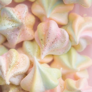Rainbow Meringue Kisses