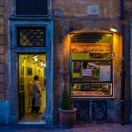 La Focaccina di Serafina by Murat Besbudak - City,  Street & Park  Historic Districts ( roma, italia, lazio, pizza, pizzeria, focacina )