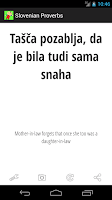 Screenshot of Slovenian Proverbs