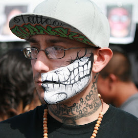 Face Art by Crystal Senski - People Body Art/Tattoos ( skull, tattoos, face paint, festival, portrait )