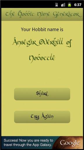 The Hobbit Name Generator