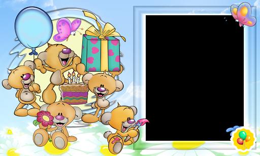 Поздравление с днём рождения рамка для ребёнка