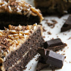 Carob & Coconut 'gluten-free vegan' Cake, without refined sugar