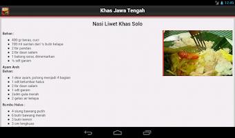 Screenshot of Resep Masakan Jawa Tengah