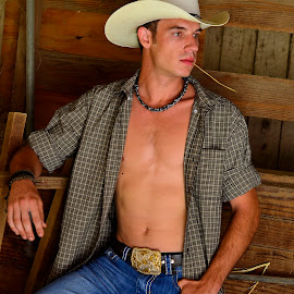 Country Gentleman by Les Walker - People Portraits of Men ( ranch, barn, western, stable, country )