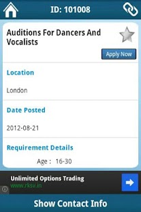 Auditions Guru - screenshot