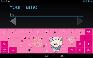 Screenshot of あゆコロちゃん キーボードイメージ