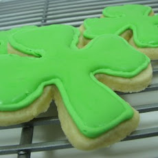 Shamrock Sugar Cookies with Royal Icing