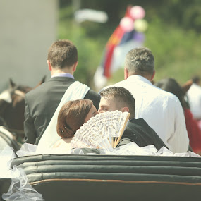 Wedding by Lazar Jovanovic - Wedding Bride & Groom ( love, kiss, 2013, arilje, wedding, serbia, fun )