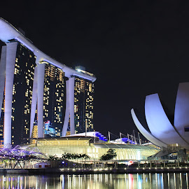 MBS at Night by Michael Loi - Novices Only Landscapes ( mbs, night, sg )