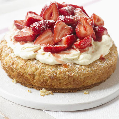 Strawberry Cream Tea Cake