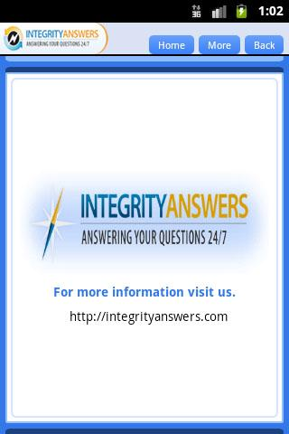 Integrity Answers