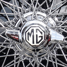 MG wheel art by Tony Swinton - Transportation Automobiles ( car vintage silver )