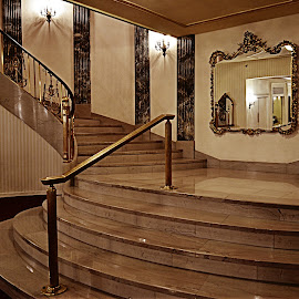 Ballroom stairway by Melissa Marts Faust - Buildings & Architecture Other Interior ( interior, fancy, stairs, hotel, antique )