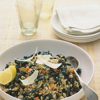 Savory Oat Groats and Kale