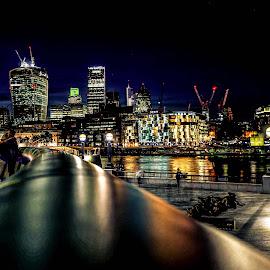 London by Haddouchi Tarik - City,  Street & Park  Night ( england, uk, london, nightscape, city,  )