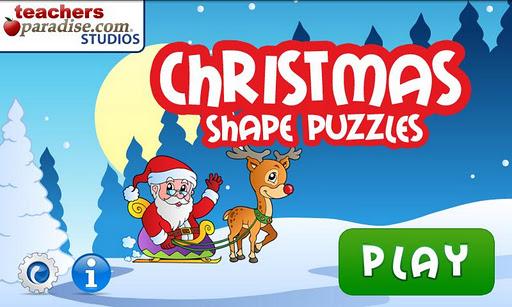 クリスマスのシェイプパズル