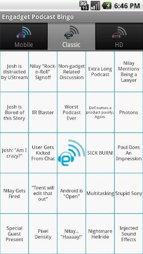 Engadget Podcast Bingo