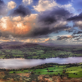 Ullswater by Joe Kirby - Landscapes Travel ( hot air balloon, uk, cumbria, ullswater, lake district )