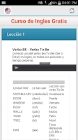 Screenshot of Curso de Ingles