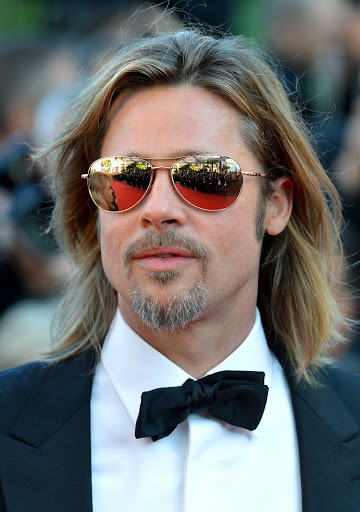 Brad Pitt with Mirrored Sunglasses