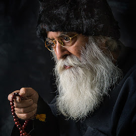 The monk with Rosary by Rakesh Syal - People Portraits of Men (  )